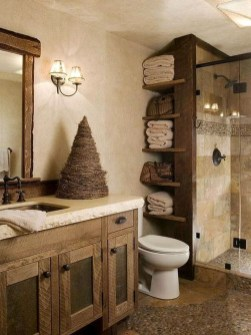 Inspiring Bathroom Decoration Ideas With Wooden Storage 10