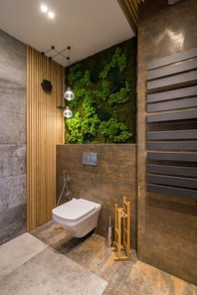 Inspiring Bathroom Decoration Ideas With Wooden Storage 17