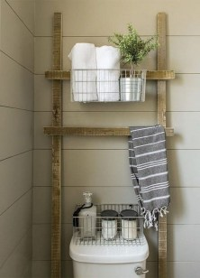 Inspiring Bathroom Decoration Ideas With Wooden Storage 28