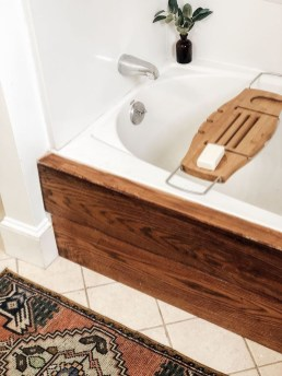 Inspiring Bathroom Decoration Ideas With Wooden Storage 39