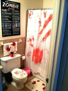 Scary Halloween Decorating Ideas For Your Bathroom 17