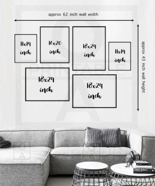 Trendy Living Room Wall Gallery Design Ideas 16
