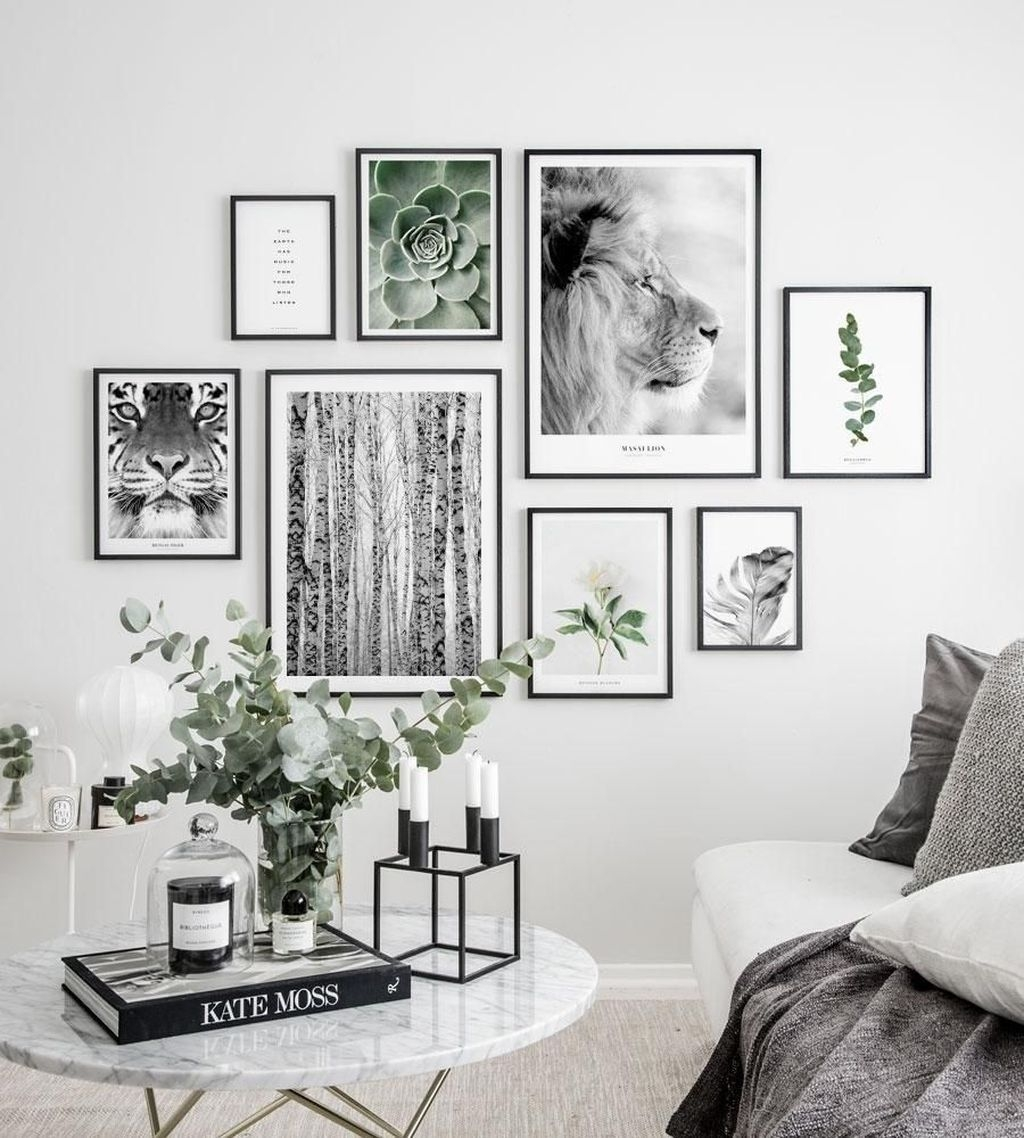 Trendy Living Room Wall Gallery Design Ideas 46