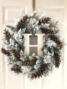 Beautiful DIY Winter Wreath To Place It On Your Door 10