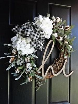 Beautiful DIY Winter Wreath To Place It On Your Door 17