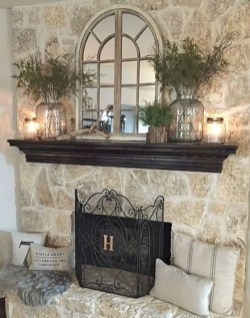 Inspiring Fireplace Mantel Decorating Ideas For Winter 02