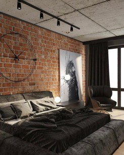 Modern Style For Industrial Bedroom Design Ideas 14