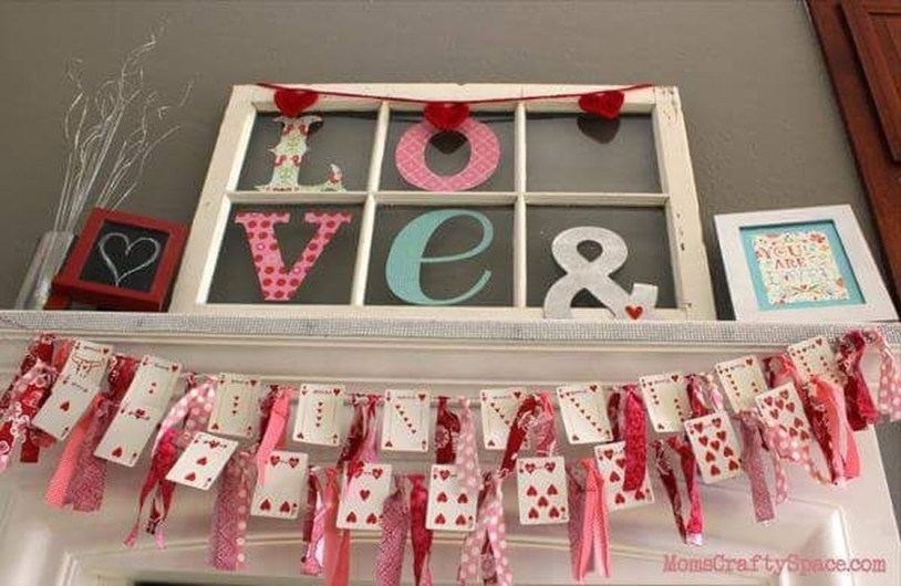 Best Valentines Day Mantel Decor Ideas That You Will Falling In Love With 45