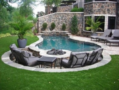 Comfy Pool Seating Ideas For Your Outdoor Decoration 21