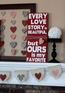 Creative DIY Valentines Day Decoration Ideas To Beautify Your Home 05