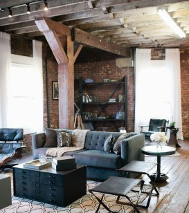 Fabulous Industrial Loft Make Over Ideas For Trendy Home 10