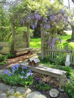 Fascinating Cottage Garden Ideas To Create Cozy Private Spot 09
