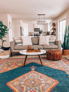 Gorgeous Bohemian Farmhouse Decorating Ideas For Your Living Room 43