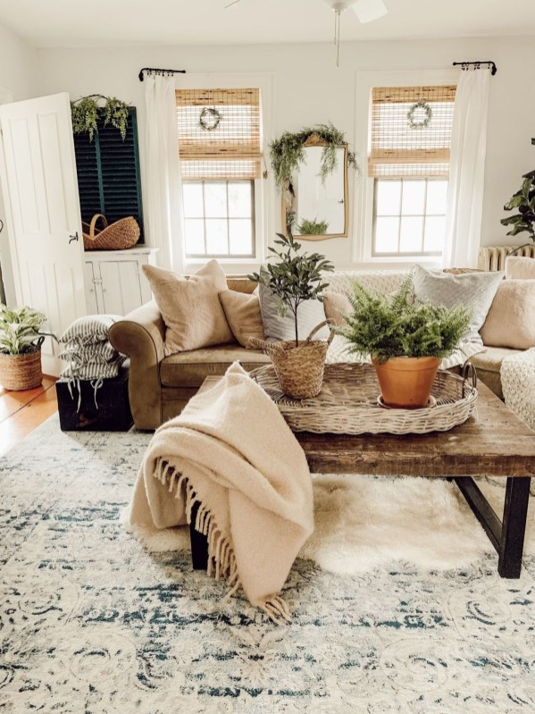 Gorgeous Bohemian Farmhouse Decorating Ideas For Your Living Room 47
