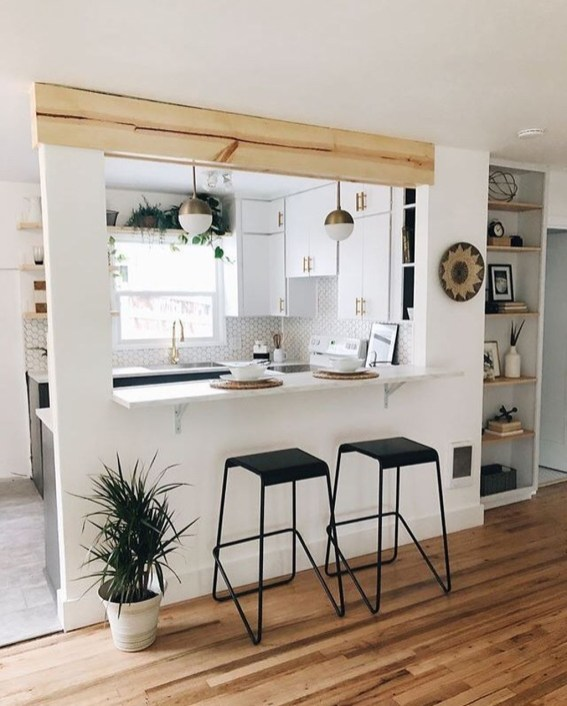 Gorgeous Small Kitchen Design Ideas For Your Small Home 47