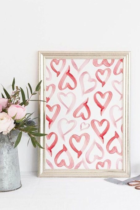 Lovely Valentines Day Home Decor To Win Over The Hearts 50