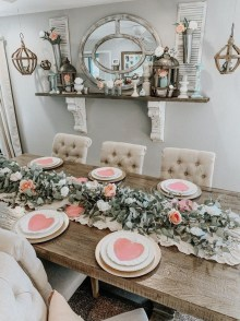 Magnificent Dining Room Decorating Ideas For Valentine's Day 26