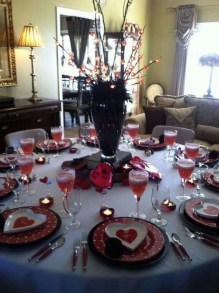 Magnificent Dining Room Decorating Ideas For Valentine's Day 35