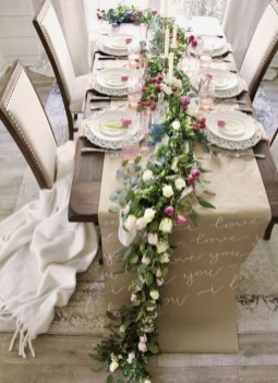 Perfect Valentine's Day Romantic Dining Table Decor Ideas For Two People 26