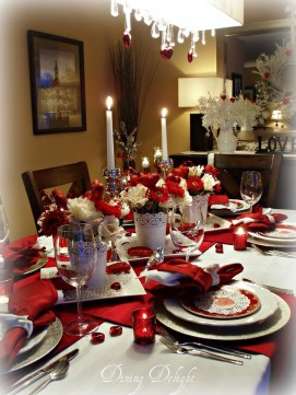 Perfect Valentine's Day Romantic Dining Table Decor Ideas For Two People 47