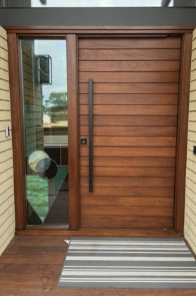 Artistic Wooden Door Design Ideas To Try Right Now 43