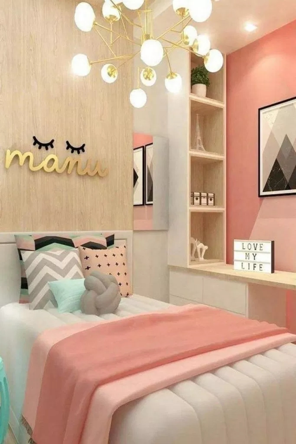 20+ Beautiful Girls Bedroom Ideas For Small Rooms To Try ...