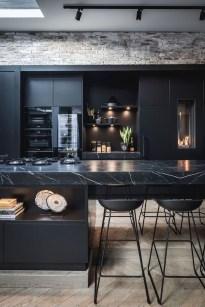 Delicate Black Kitchen Interior Design Ideas For Kitchen To Have Asap 03