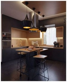 Delicate Black Kitchen Interior Design Ideas For Kitchen To Have Asap 23