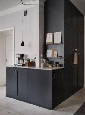 Delicate Black Kitchen Interior Design Ideas For Kitchen To Have Asap 26