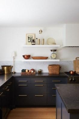 Delicate Black Kitchen Interior Design Ideas For Kitchen To Have Asap 34