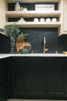 Delicate Black Kitchen Interior Design Ideas For Kitchen To Have Asap 44