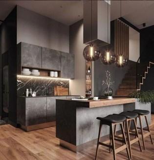 Delicate Black Kitchen Interior Design Ideas For Kitchen To Have Asap 45