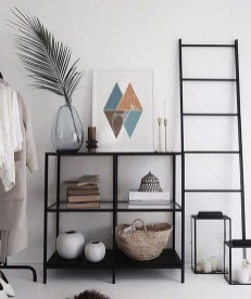 Easy And Simple Shelves Decoration Ideas For Living Room Storage 03