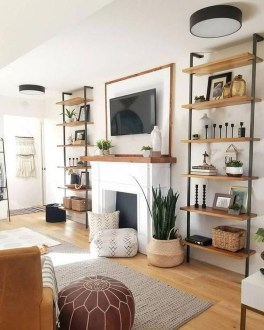 Easy And Simple Shelves Decoration Ideas For Living Room Storage 17