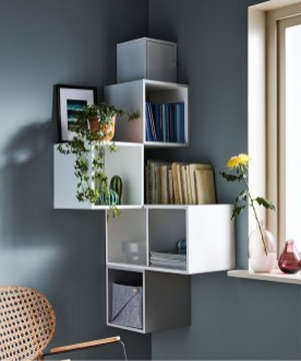 Easy And Simple Shelves Decoration Ideas For Living Room Storage 18
