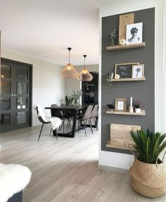 Easy And Simple Shelves Decoration Ideas For Living Room Storage 21