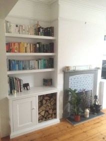 Easy And Simple Shelves Decoration Ideas For Living Room Storage 31