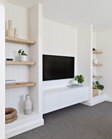 Easy And Simple Shelves Decoration Ideas For Living Room Storage 46