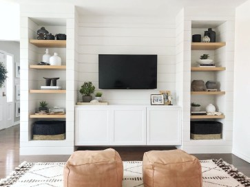 Easy And Simple Shelves Decoration Ideas For Living Room Storage 50