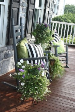 Elegant Chair Decoration Ideas For Spring Porch 07