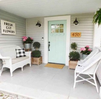 Elegant Chair Decoration Ideas For Spring Porch 17