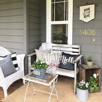 Elegant Chair Decoration Ideas For Spring Porch 18
