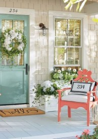 Elegant Chair Decoration Ideas For Spring Porch 38