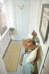 Fascinating Small Balcony Ideas With Relax Seating Area 06