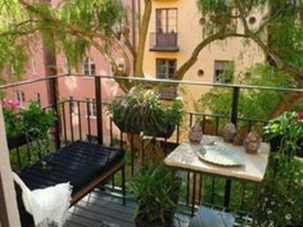 Fascinating Small Balcony Ideas With Relax Seating Area 09