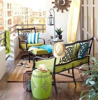 Fascinating Small Balcony Ideas With Relax Seating Area 19