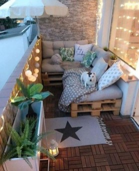 Fascinating Small Balcony Ideas With Relax Seating Area 20