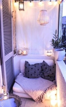 Fascinating Small Balcony Ideas With Relax Seating Area 24