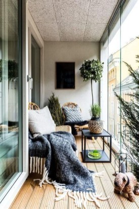 Fascinating Small Balcony Ideas With Relax Seating Area 36