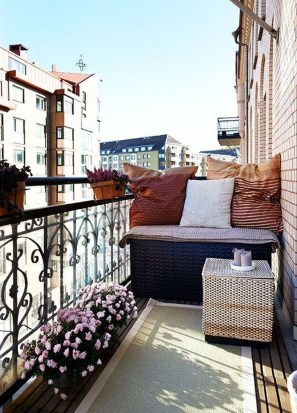 Fascinating Small Balcony Ideas With Relax Seating Area 38